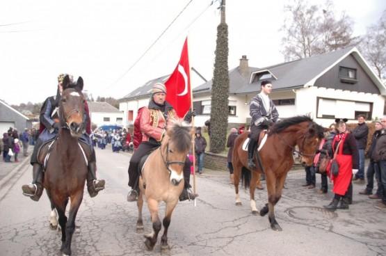 Belçika'nın doğusunda bulunan ve Türk köyü olarak adlandırılan Faymonville'de geleneksel karnaval başladı.