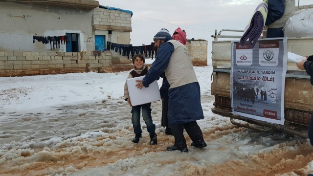 Rahma Austria yardımları Halep'e Ulaştırdı