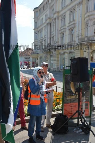 İsrail'in Gazze Saldırıları Graz'da Protesto Edildi