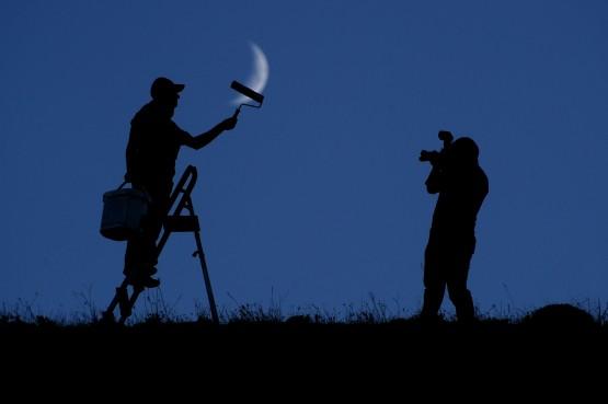 Van'da Ay Görünümü