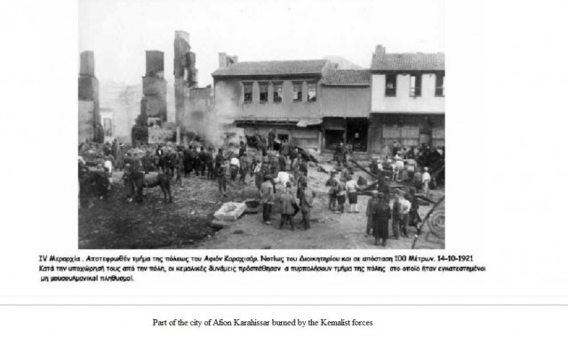 Ermeni evlerini Yunan ordusu yakmış
