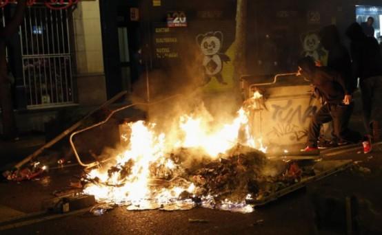 Barcelona'da şiddet dindirilemiyor