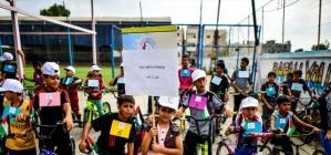 Filistinli çocuklar için bisiklet yarışı