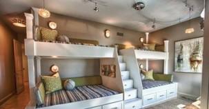 Çok çocuklu aileler için harika oda tasarımları