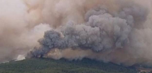 O ülkede büyük yangın!