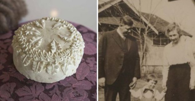 Şanslı torun, 100 yıllık düğün pastasını garajda buldu!