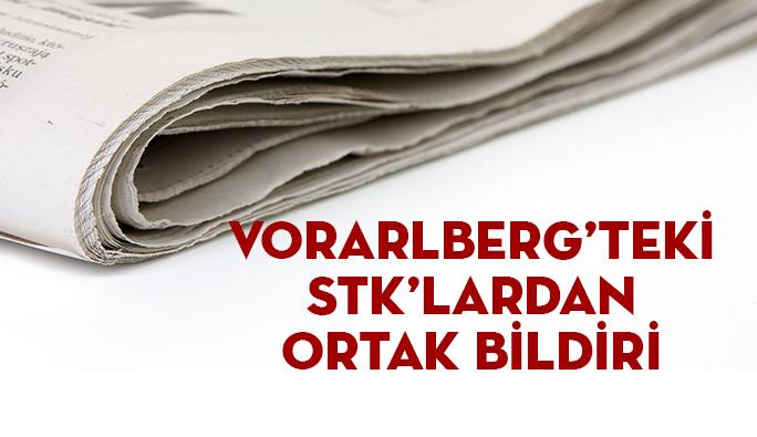 Vorarlberg'teki STK'lardan Ortak Bildiri