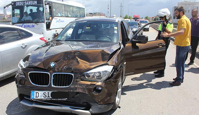 Ordu-Samsun yolunda kaza: 4 yaralı
