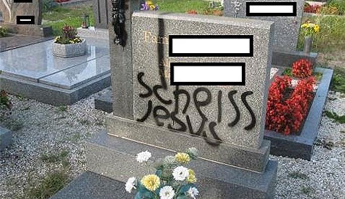 Avusturya'da Hz. İsa'ya hakaret, mezarlığa çirkin saldırı