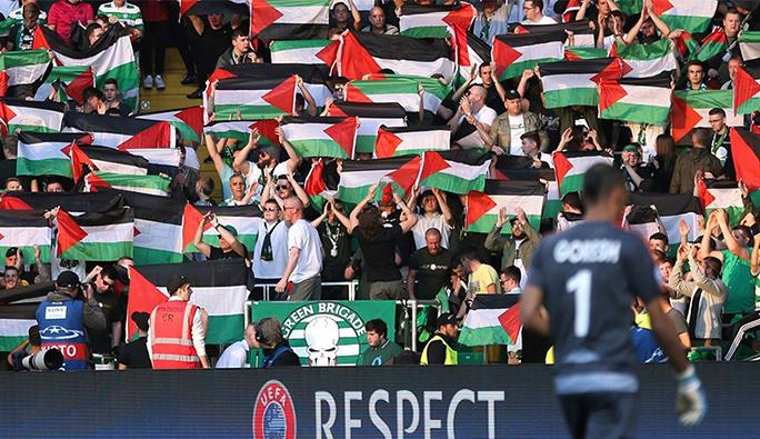 Filistin bayrağı açtığı için ceza verilen Celtic taraftarından UEFA'ya kapak