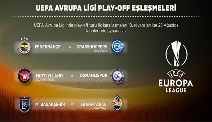 UEFA Avrupa ligi play-off eşleşmeleri