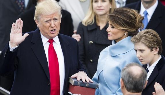 Donald Trump yemin ederek ABD'nin 45. Başkanı oldu