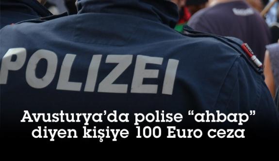 Avusturya'da polise 'Ahbap' diyen kişiye 100 Euro ceza