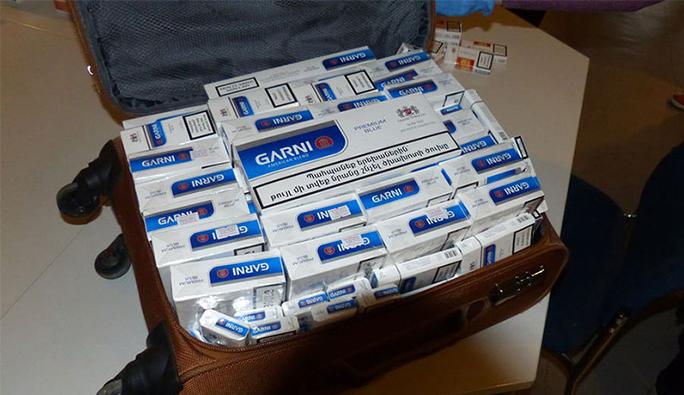 Salzburg'ta 28.200 adet sigarayla yakalandı