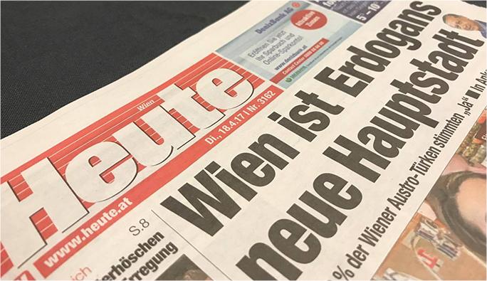 Heute: 'Erdoğan'ın yeni başkenti Viyana'