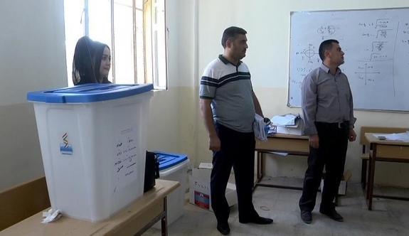 IKBY'deki referandum için sandıklar konuldu