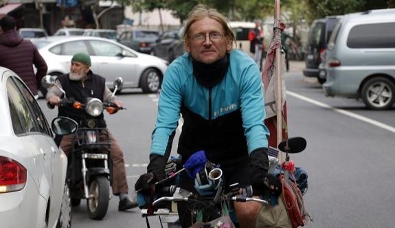 6 ayda 12 bin kilometre pedal çevirdi