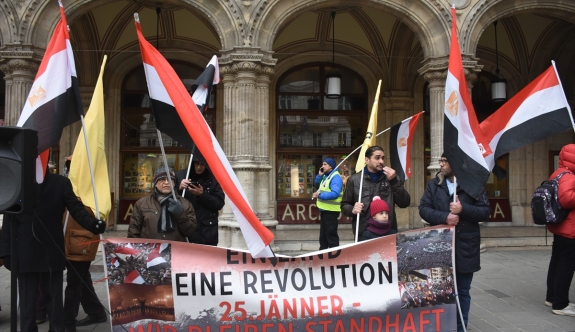 Viyana'da Mısır Cumhurbaşkanı Sisi karşıtı protesto