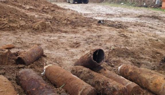 Birinci Dünya Savaşı'ndan kalma mermiler bulundu