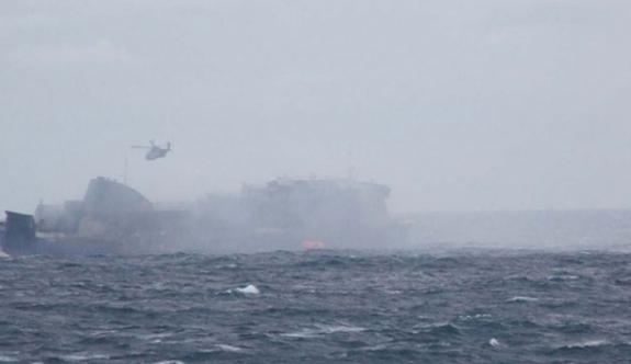 Çin'de kargo gemisi alabora oldu!