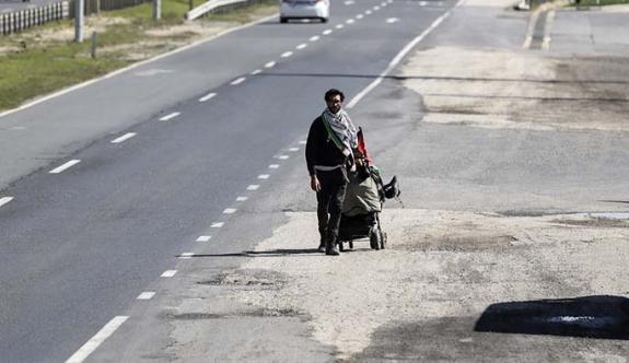"""""""İsrail zulmüne dikkati çekmek için yola çıktım"""""""