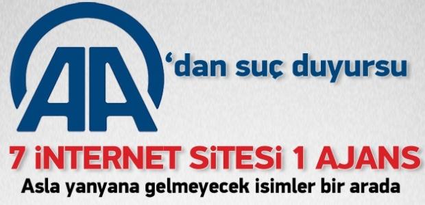 ''AA'dan bazı internet sitelerine suç duyurusu''