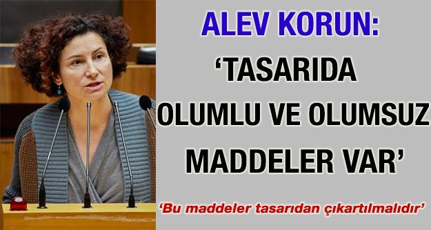 Alev Korun: 'Tartışmalı hükümler tasarıdan...