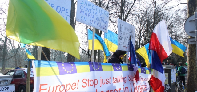 ''Avrupa Konseyi önünde Ukrayna eylemi''