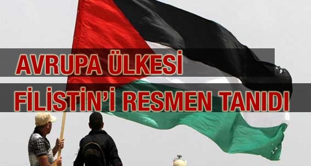 Avrupa Ülkesi, Filistin'i Resmen Tanıdı