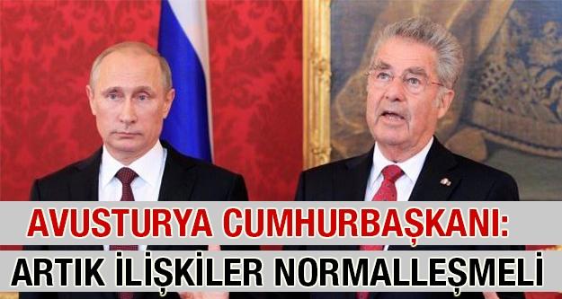 Avusturya lideri: İlişkiler artık normalleşmeli