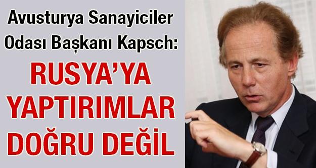 Avusturya Sanayiciler Başkanı Kapsch:...