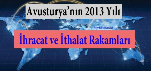 ''Avusturya'nın 2013 Yılı İthalat ve İhracat Rakamları''