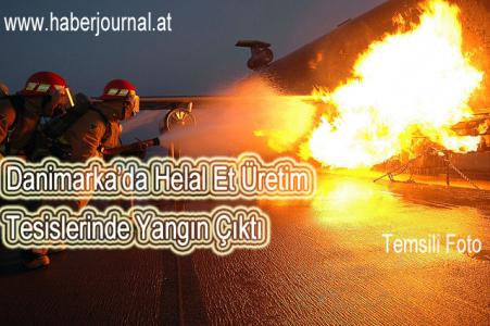 ''Danimarka'da helal et üretim tesisinde yangın''
