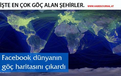 ''Facebook dünyanın göç haritasını çıkardı''