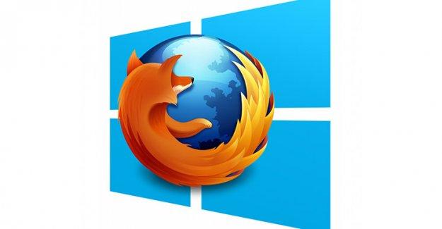 Firefox, Windows 10'a ateş püskürdü