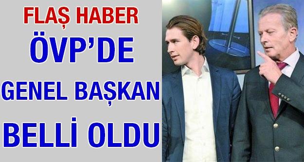 Flaş haber: ÖVP'de genel başkan belli...