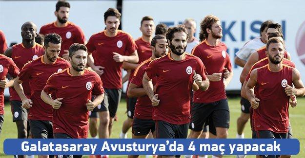 Galatasaray, Avusturya'da 4 hazırlık maçı yapacak