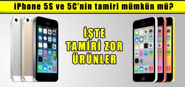 ''iPhone 5S ve 5C'nin tamiri mümkün mü?''