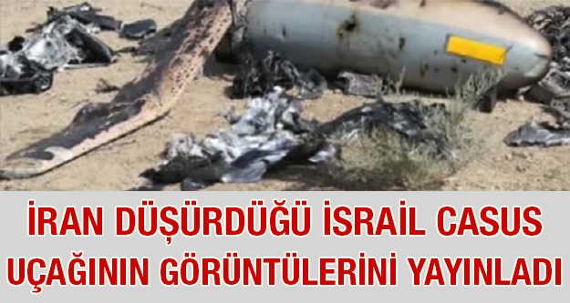 İsrail'in düşürülen casus uçağının...