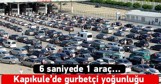 Kapıkule'de 'Gurbetçi' yoğunluğu: 6 saniyede 1 araç...