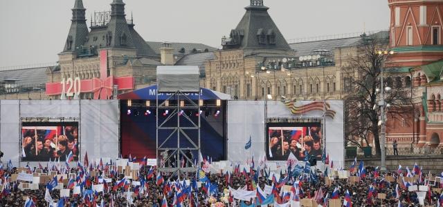 'Kızıl Meydan'da 65 bin kişi ile Kırım'a destek konseri''