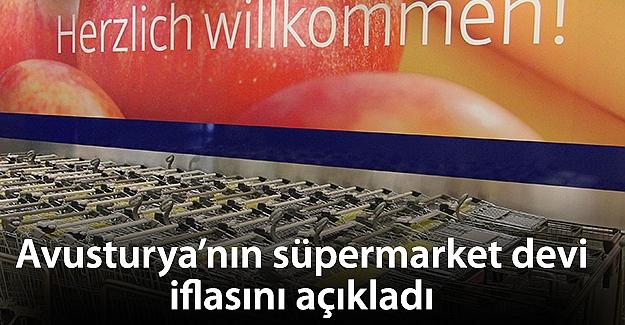 Avusturya'nın süpermarket devi iflasını açıkladı