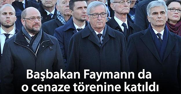 Başbakan Faymann da o cenaze törenine katıldı