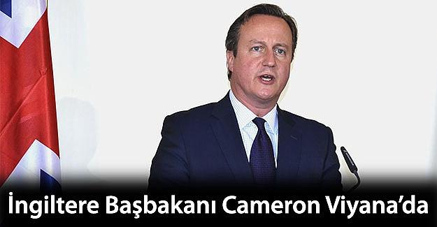 İngiltere Başbakanı Cameron Viyana'da