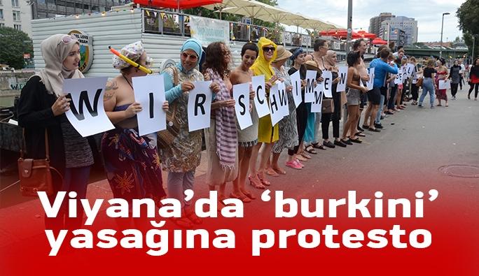 Viyana'da burkini yasağına protesto