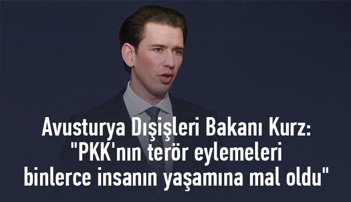 Sebastian Kurz: 'PKK'nın terör eylemeleri binlerce insanın yaşamına mal oldu'