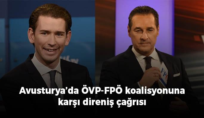 ÖVP-FPÖ koalisyonuna karşı direniş çağrısı