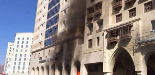 ''Medine'de Türklerin kaldığı otelde yangın çıktı''