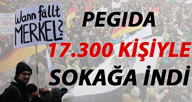 PEGIDA 17.300 Kişiyle Sokağa İndi