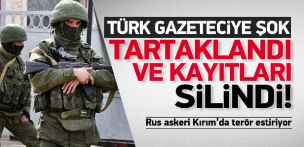 """""""Rus askerinden Türk gazeteciye dayak!"""""""